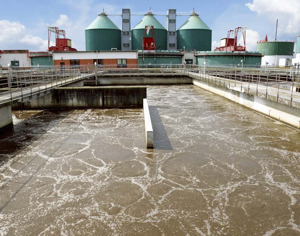 sewage treatment Sewage treatment during production of industrial water, filtration of a take off of  the clear run can be used to save valuable drinking or well water rain bird.