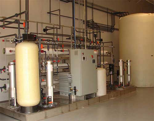 water treatment equipment installed by Aries