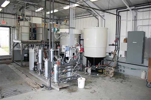 Aries installed wastewater treatment equipment