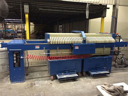 800 mm – 20 ft3 filter press at automotive supplier plant