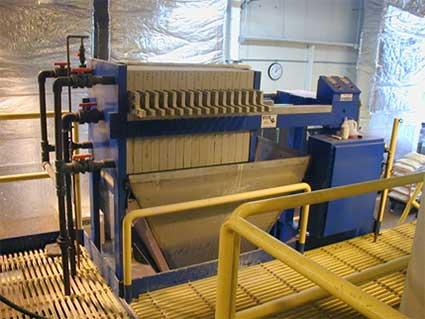 630 mm 5 ft3 filter press system