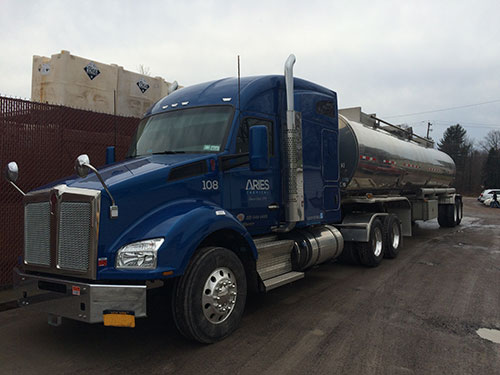 truck transporting water treatment chemicals