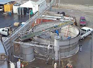 flocculation, tank and clarifier