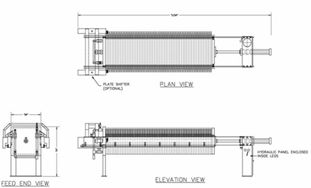 recessed chamber filter press diagram