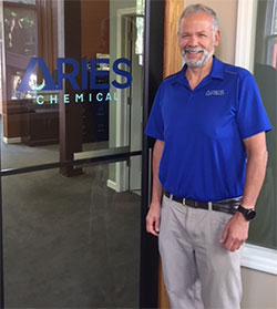 Scott Frasca at Aries Chemical HQ