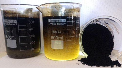 oilfield water, oil and solids