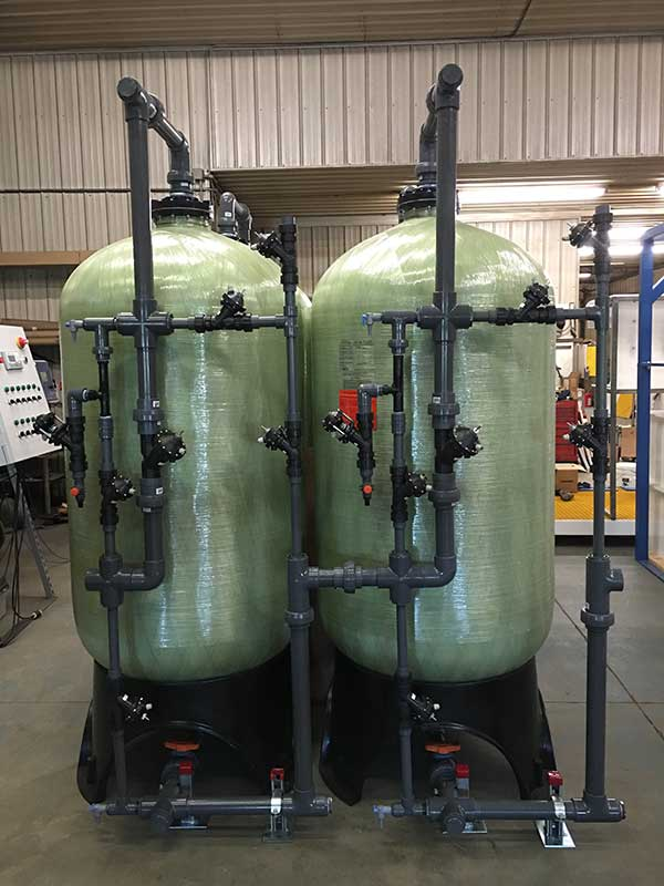 cation/anion demineralization system installed
