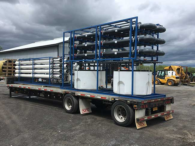 150 gpm MF / RO system loaded on truck