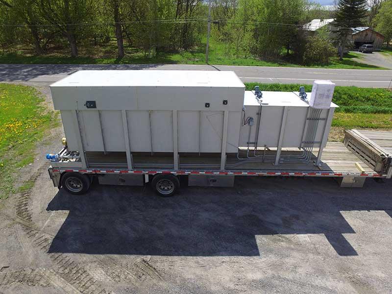 dissolved air flotation clarifier on truck bed